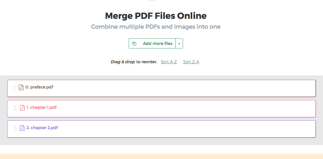 Merge Pdf Files Online