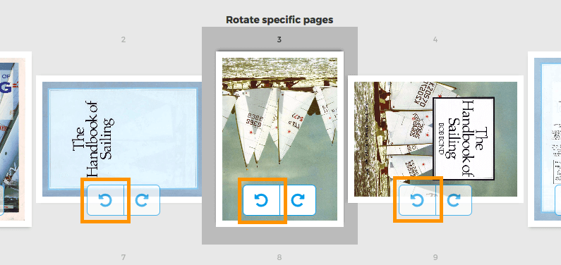 select specific pages from pdf